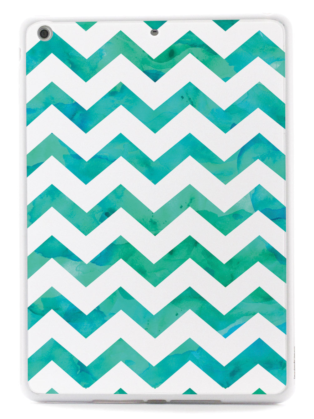 Watercolor Chevron Pattern - Teal Case