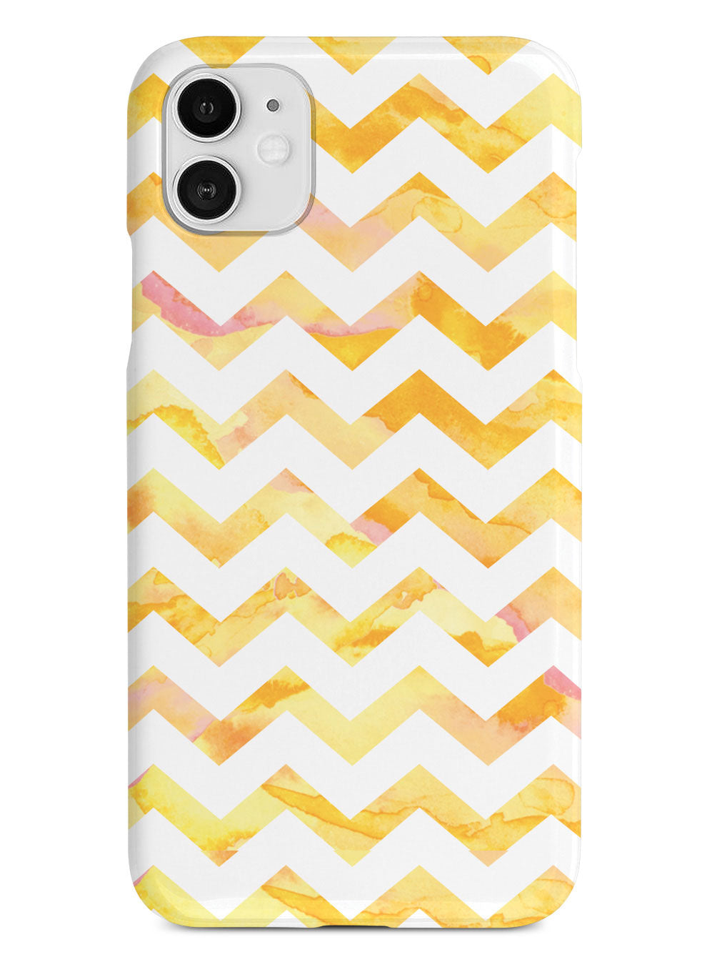 Watercolor Chevron Pattern - Yellow Case