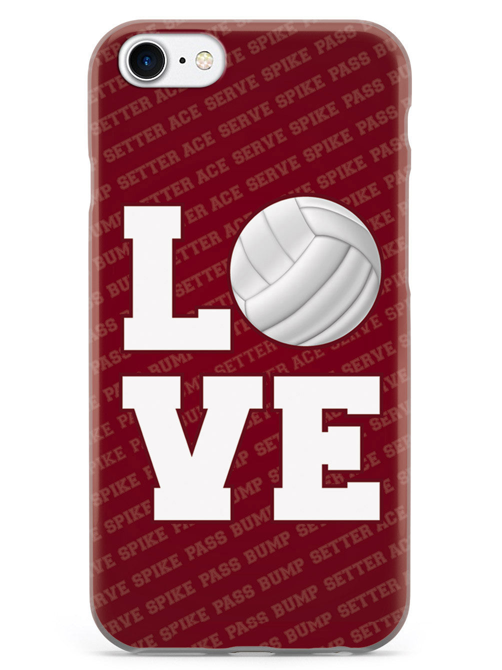 L.O.V.E. Volleyball Red Case