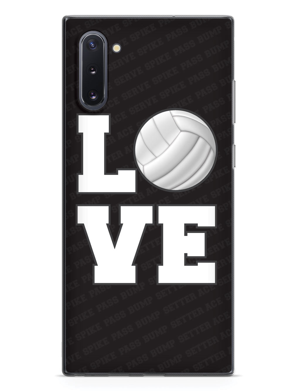 L.O.V.E. Volleyball Black Case