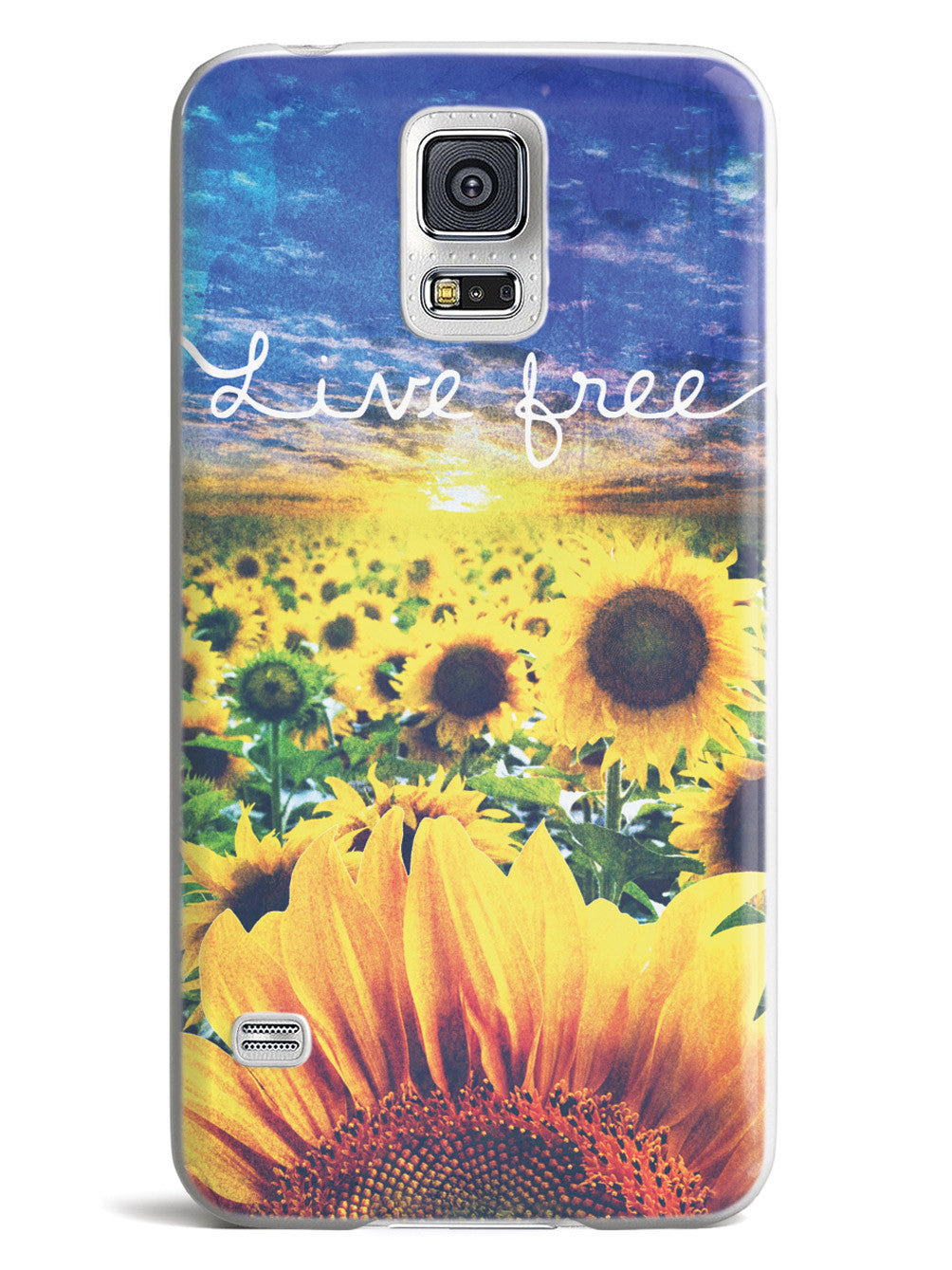 Live Free - Sunflower Field Case