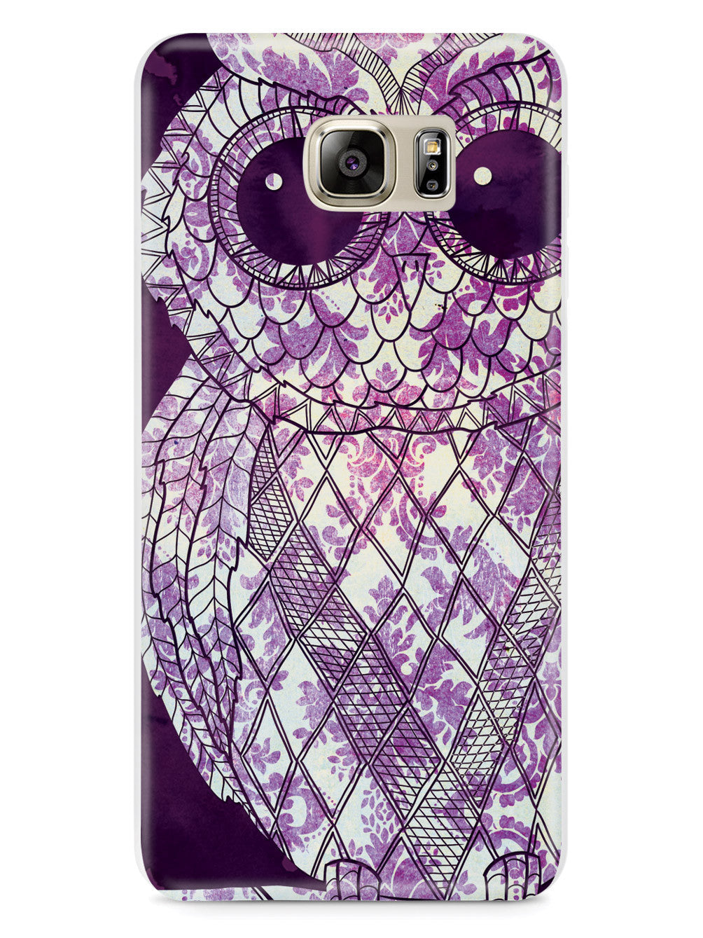 Vintage Purple Damask Owl Case