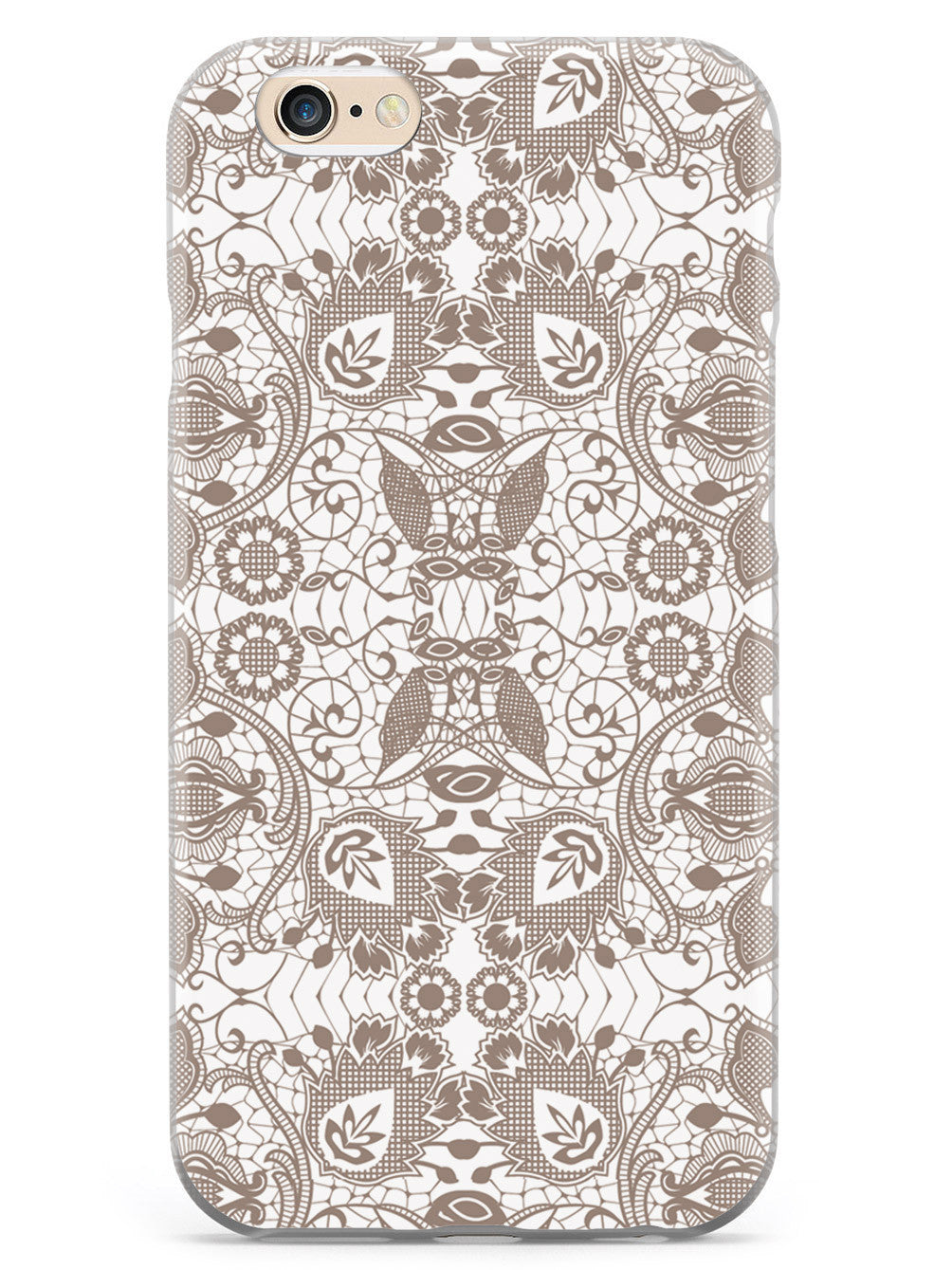 Lace Pattern - Brown/Neutral Case