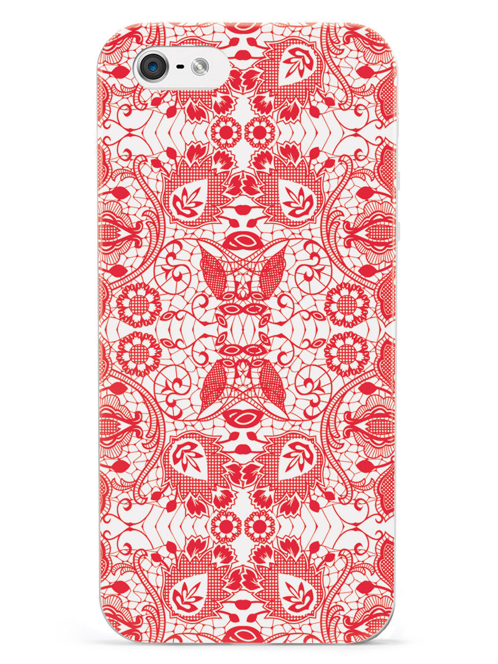 Lace Pattern - Red Case