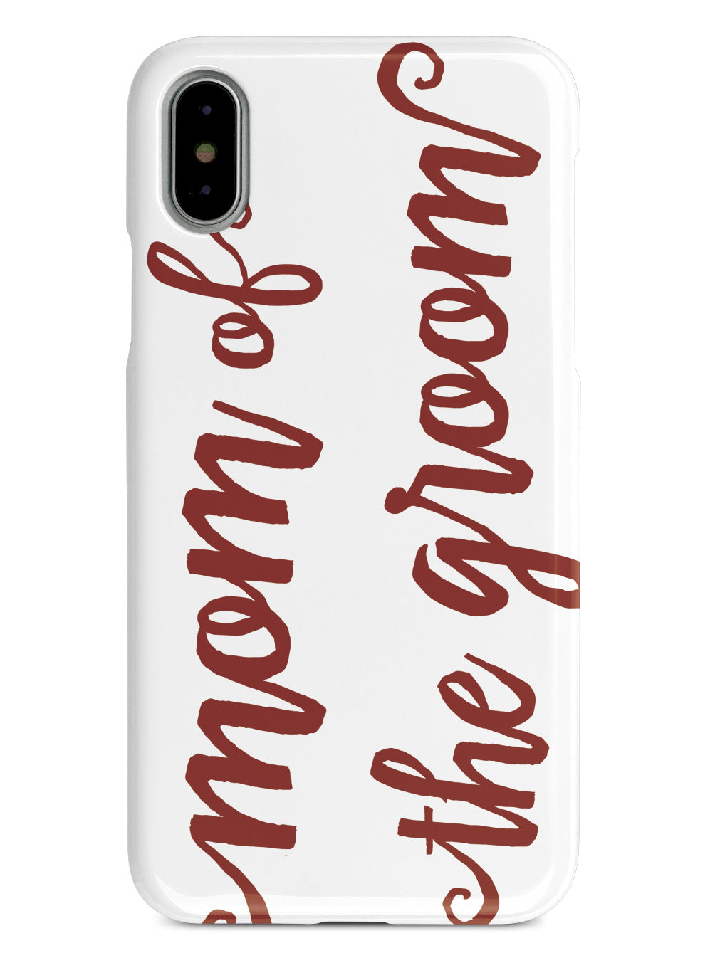 Mom of the Groom - Crimson Red Case