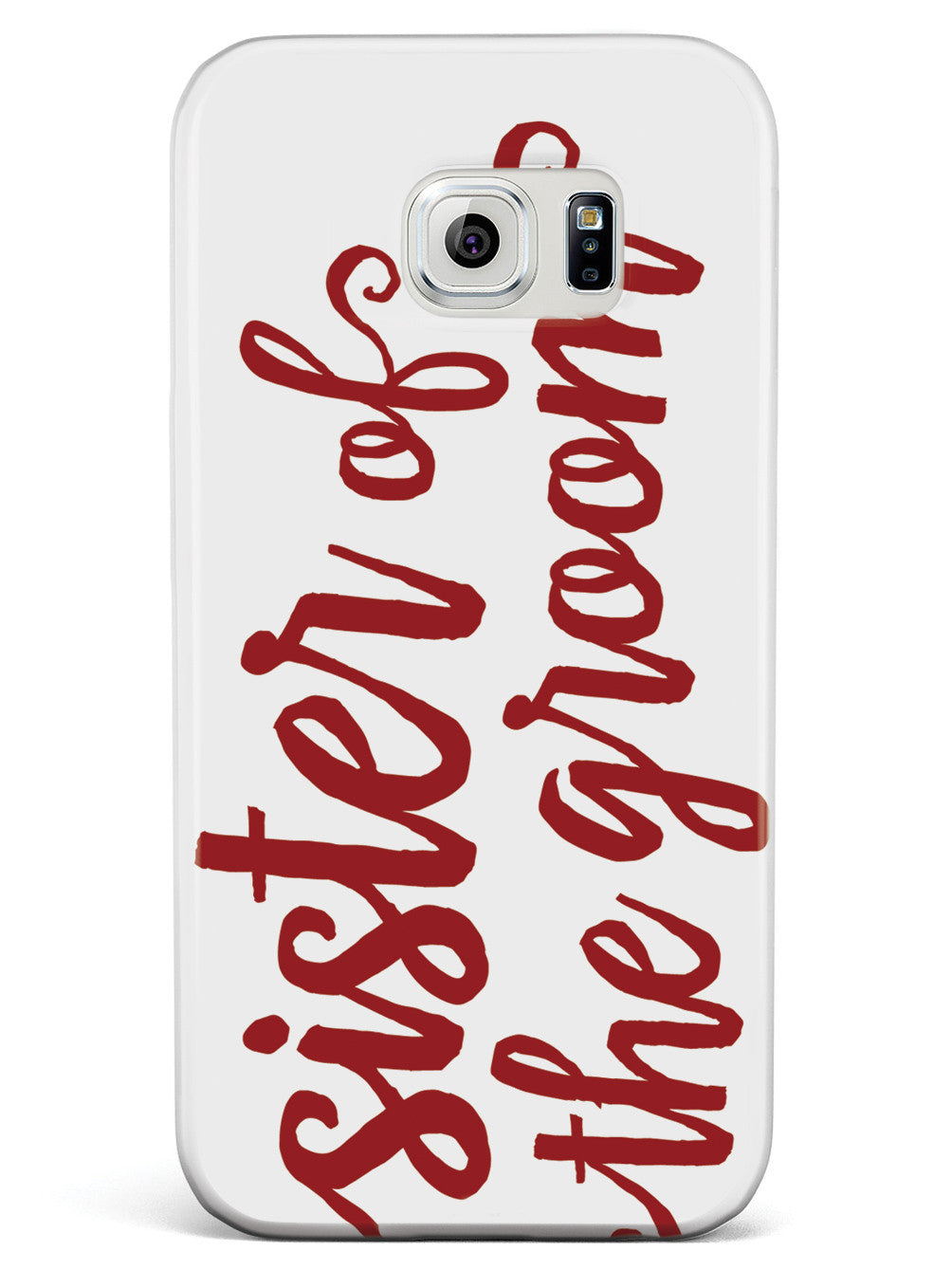 Sister of the Groom - Crimson Red Case