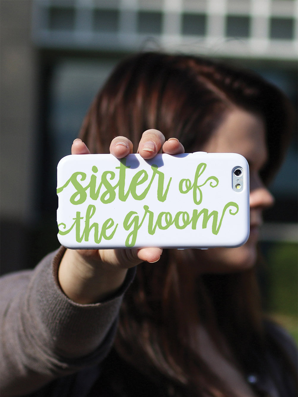 Sister of the Groom - Sage Green Case