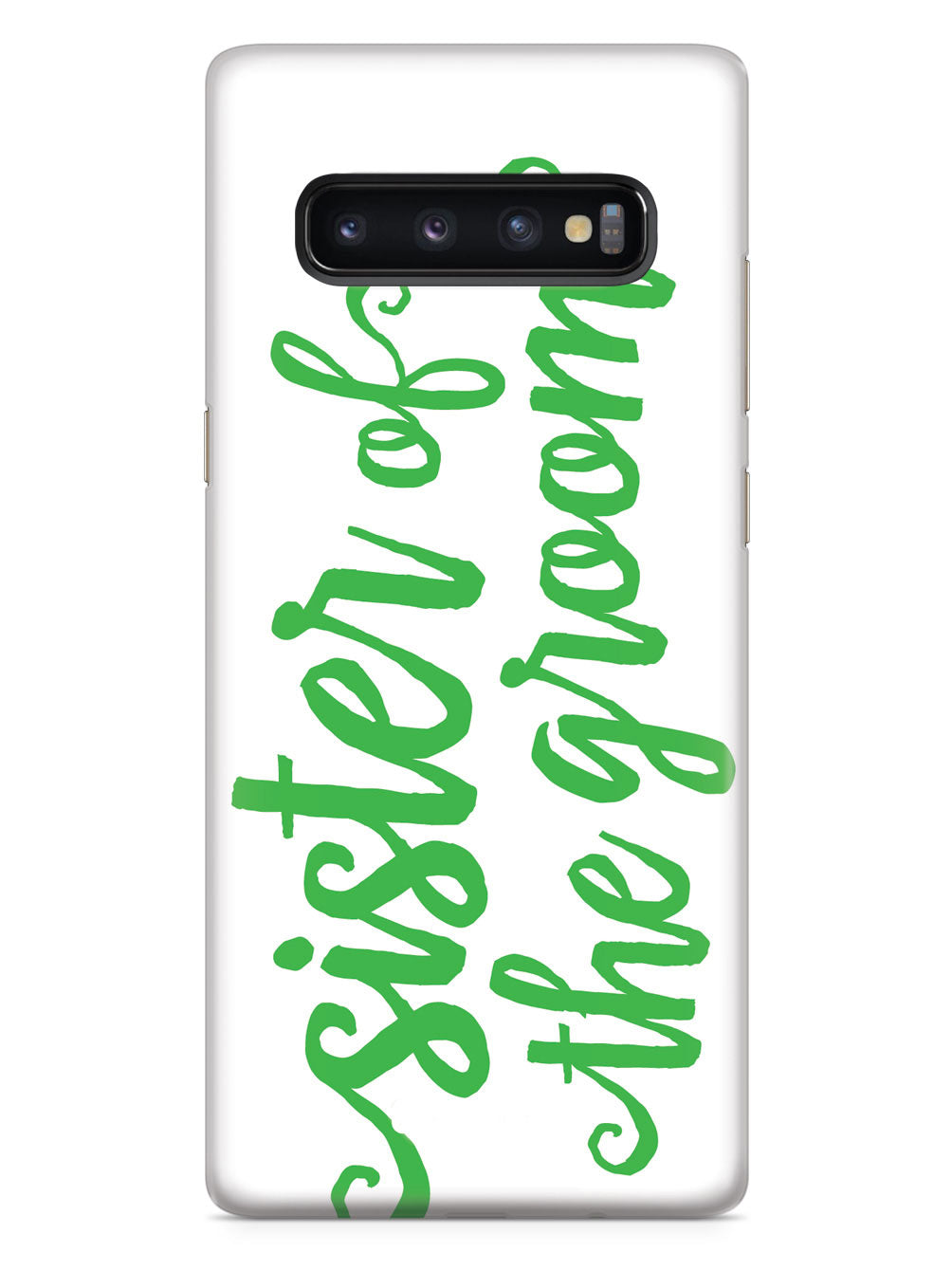 Sister of the Groom - Emerald Green Case