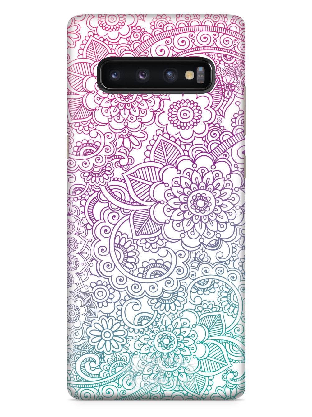 Flower Zentangle Pattern Case