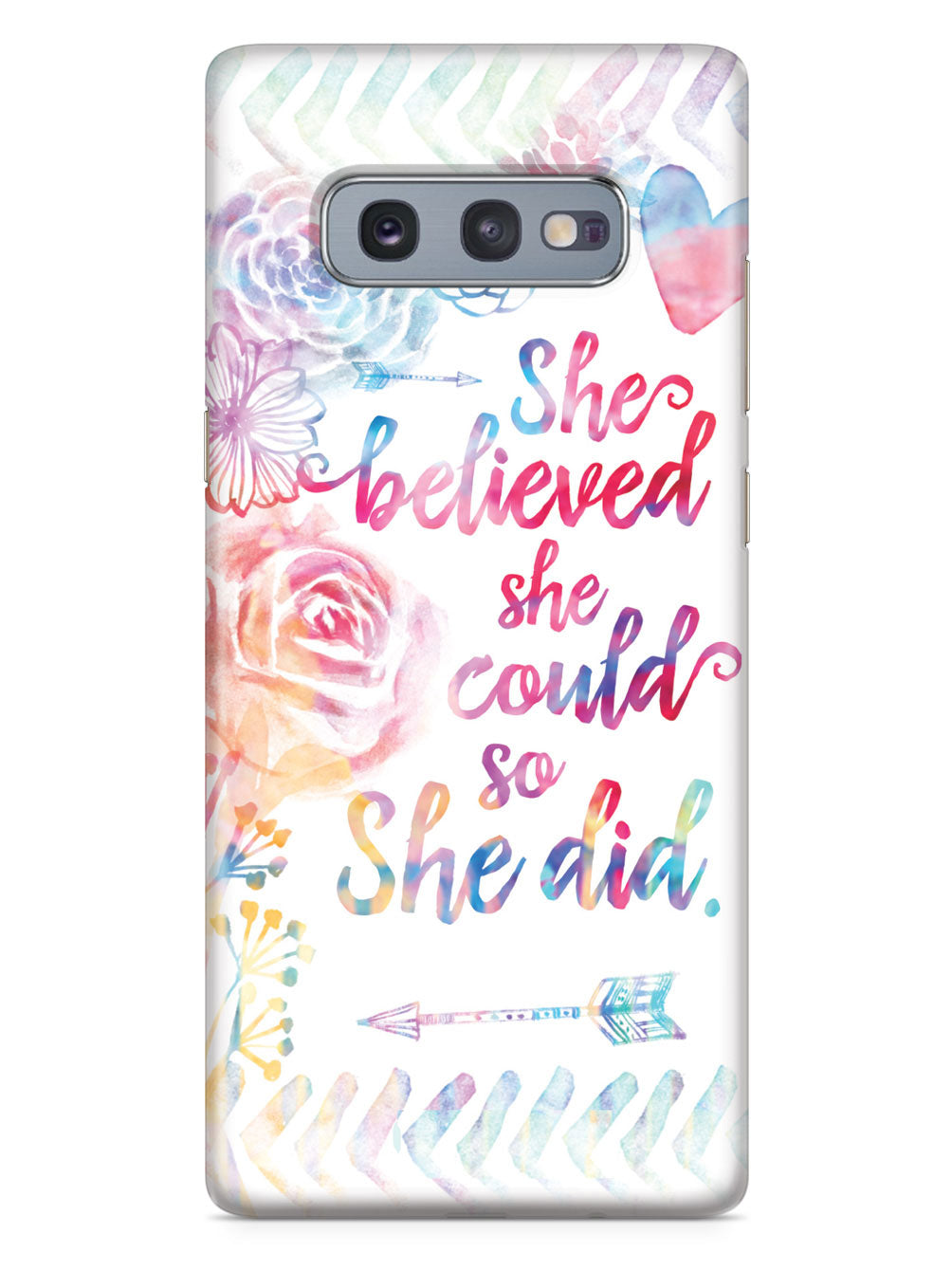 So She Did - White Case