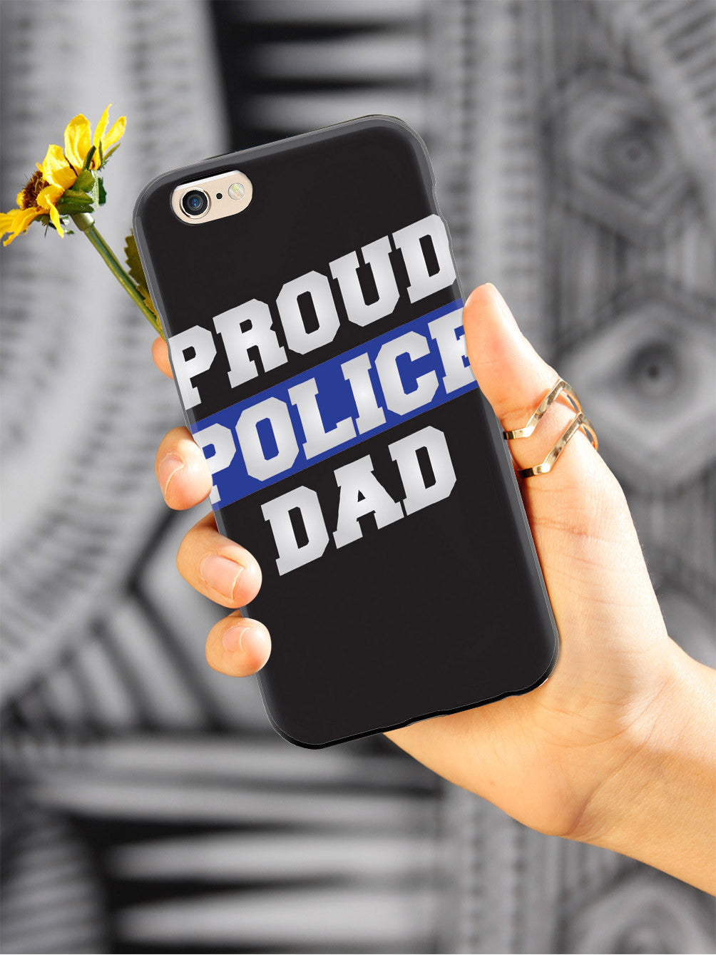 Proud Police Dad - Thin Blue Line Case