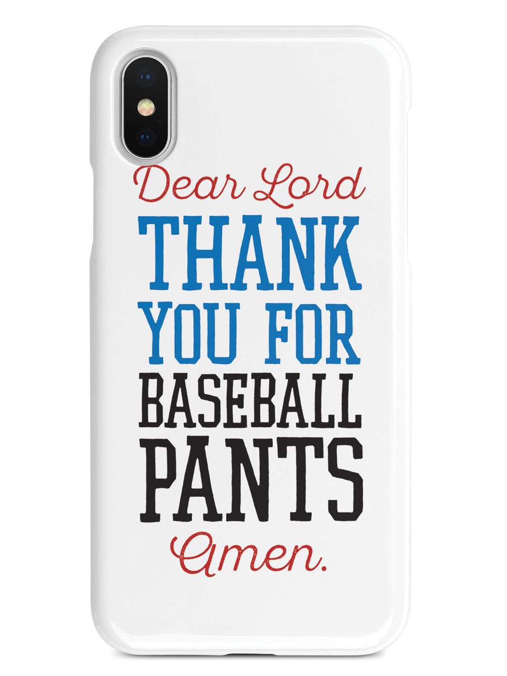 Thank You For Baseball Pants - Baseball Case
