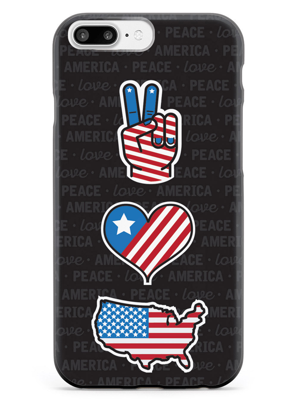 Peace, Love & America - Patriotic Case