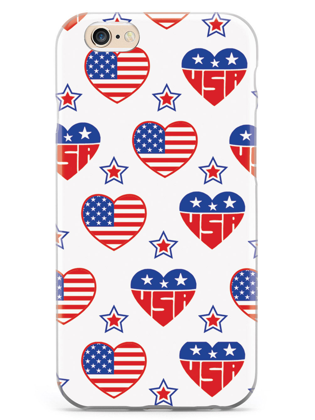USA Heart Pattern - Patriotic Case