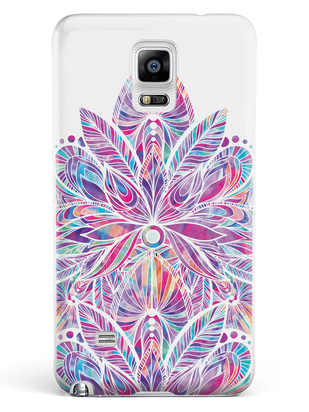 Colorful Lotus Flower Pattern - White Case