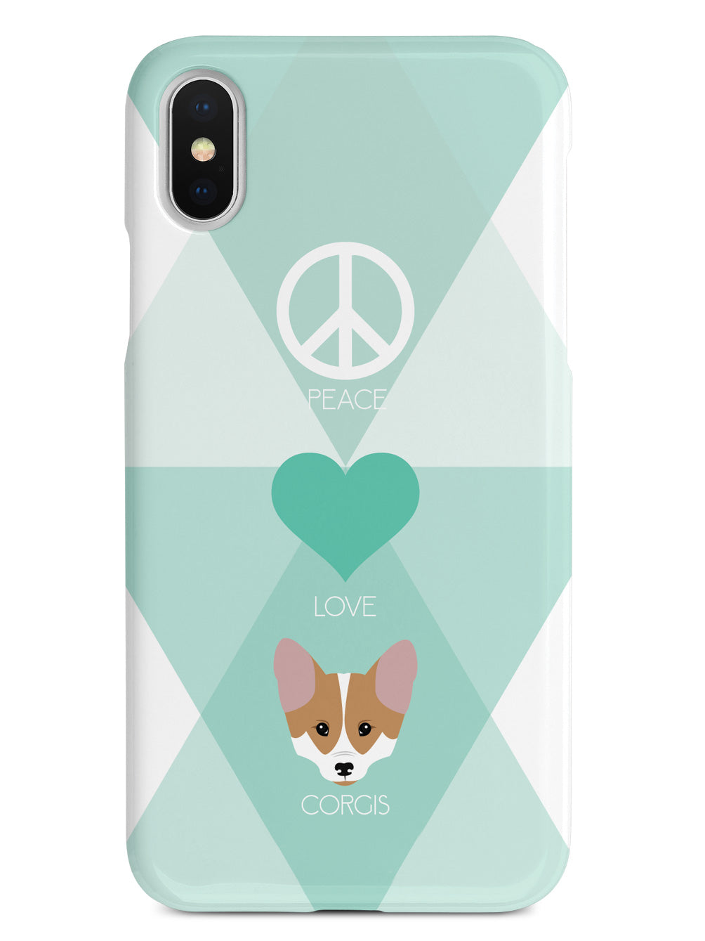 Peace, Love & Corgis Case