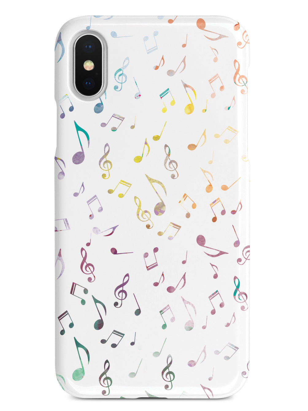 Music Notes Pattern - Watercolor Case