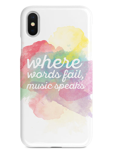 Where Words Fail, Music Speaks Case