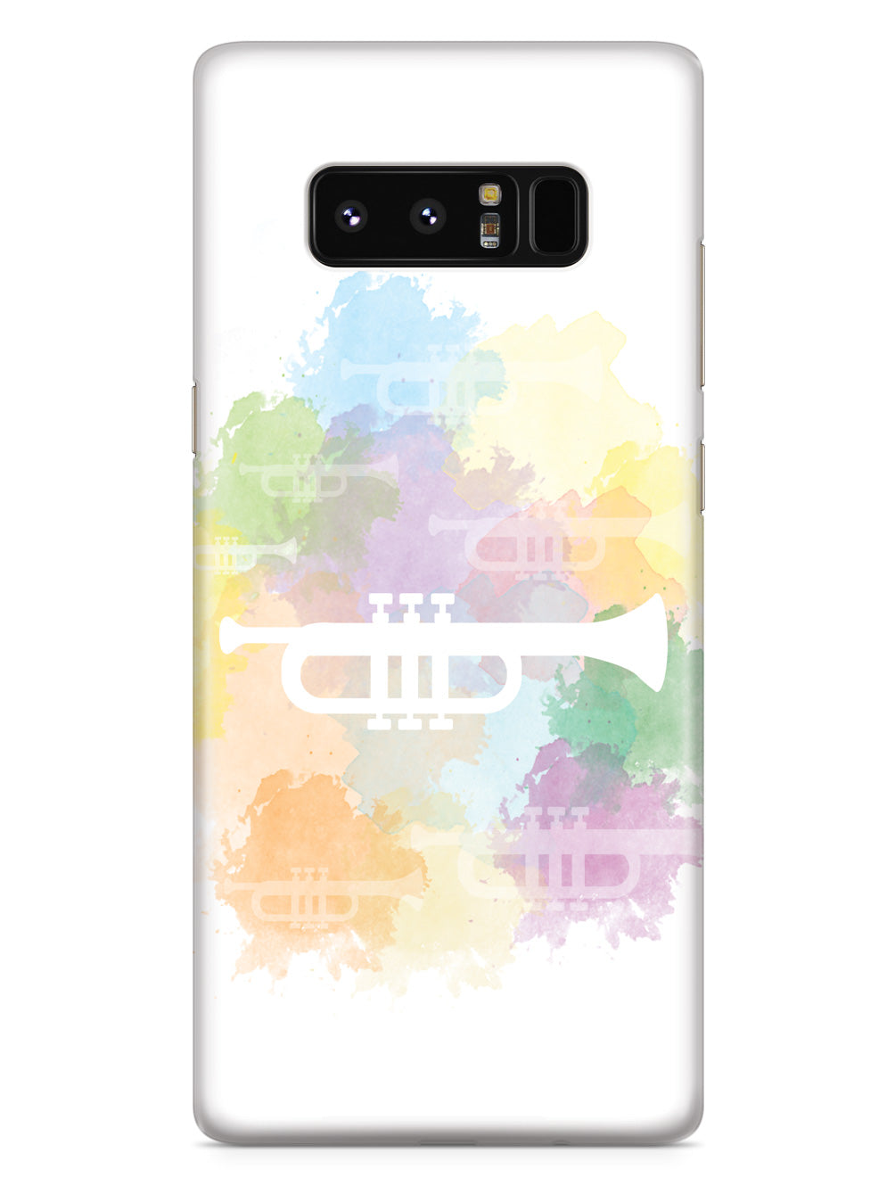 Trumpet Silhouette - Watercolor Case