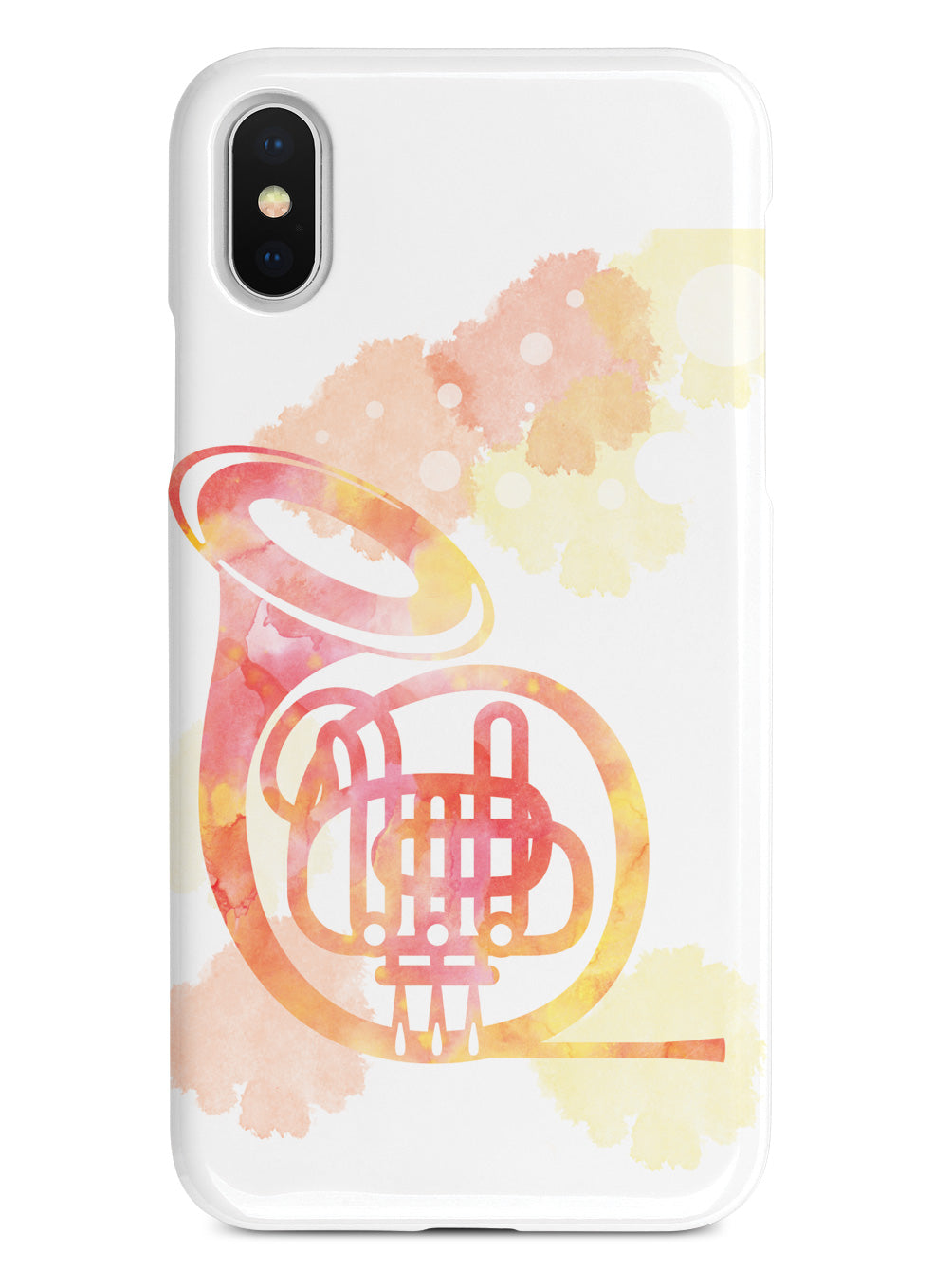 French Horn Silhouette - Watercolor Case