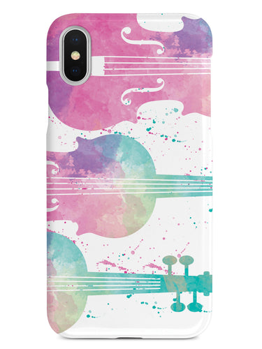 String Instrument Silhouette - Watercolor Case