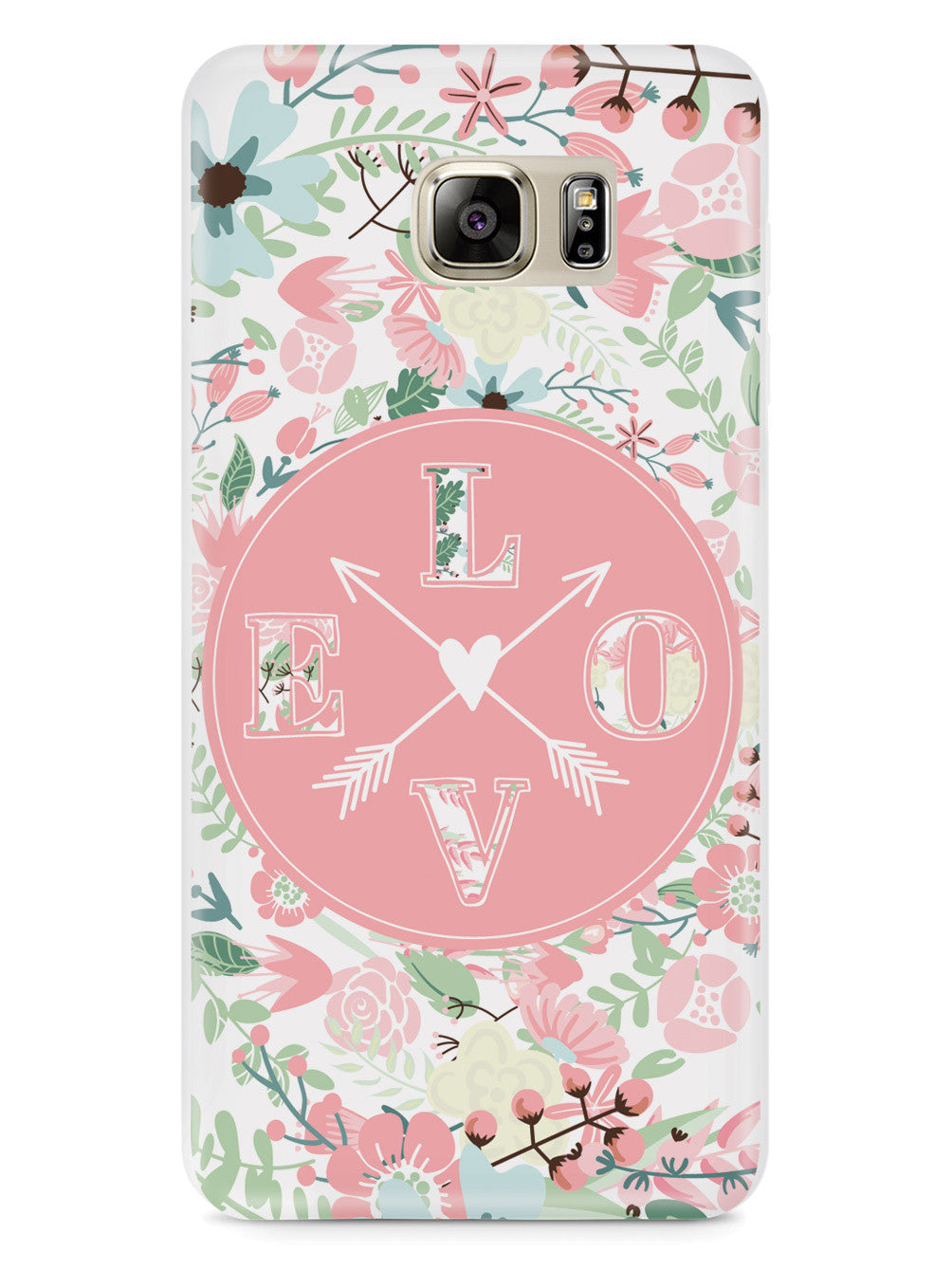 Cute LOVE Flower Pattern Case