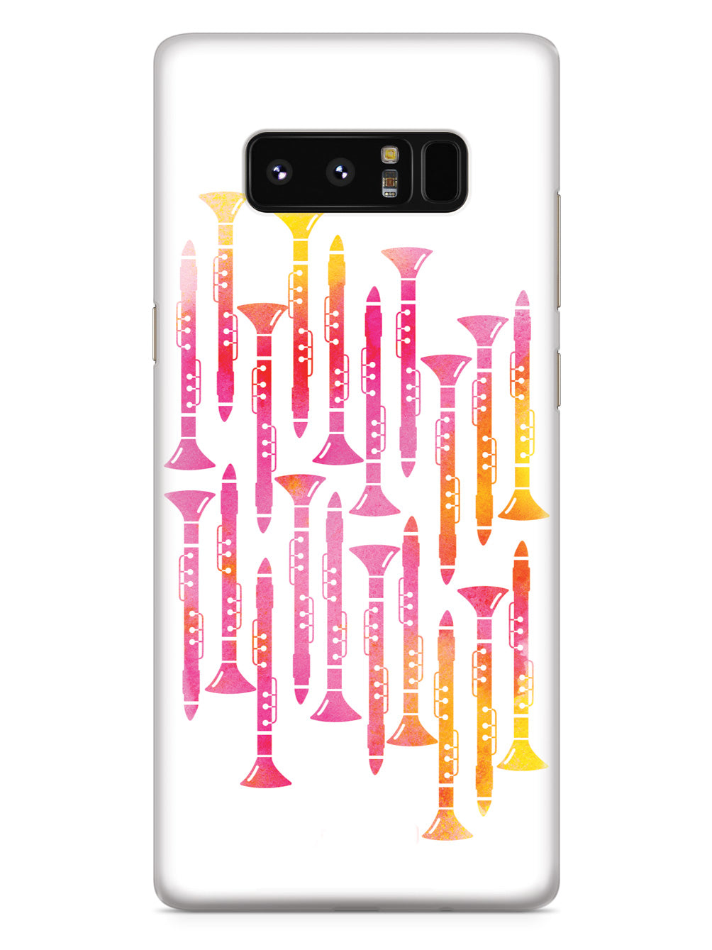 Clarinet Pattern - Watercolor Case