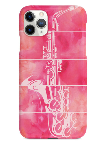 Abstract Saxophone - Watercolor Case