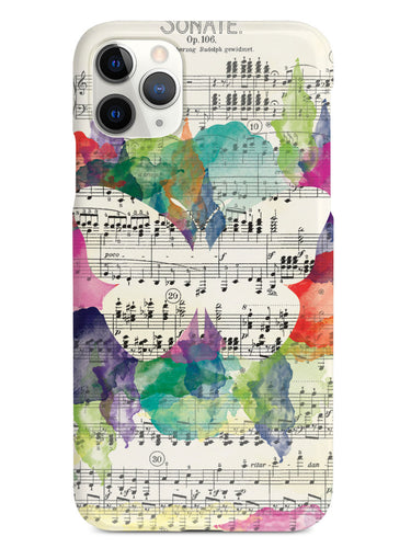 Music Sheet Butterfly Case