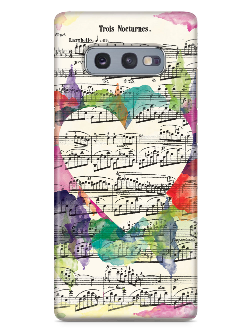 Music Sheet Heart Case