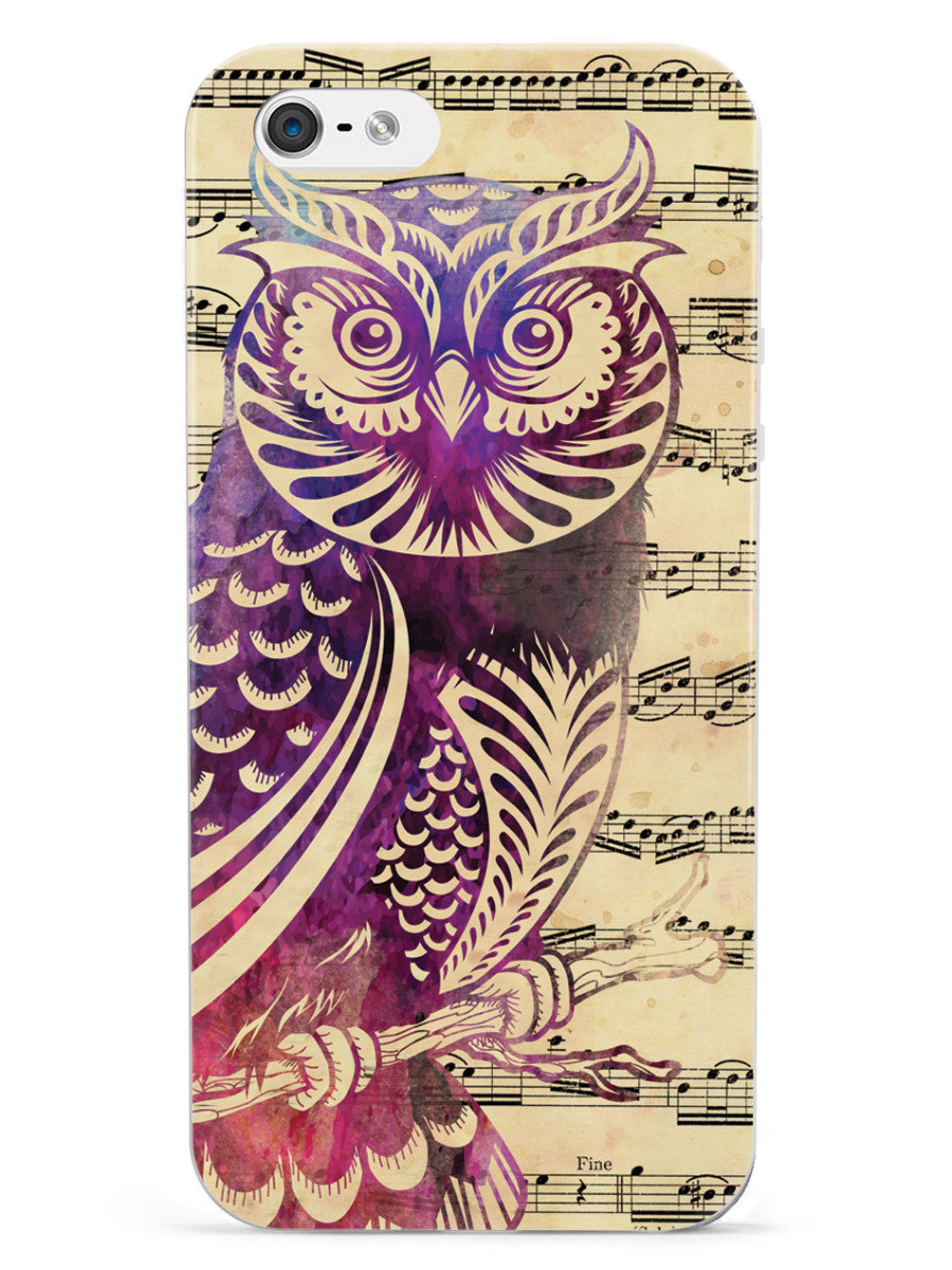 Owl and Music Notes Case