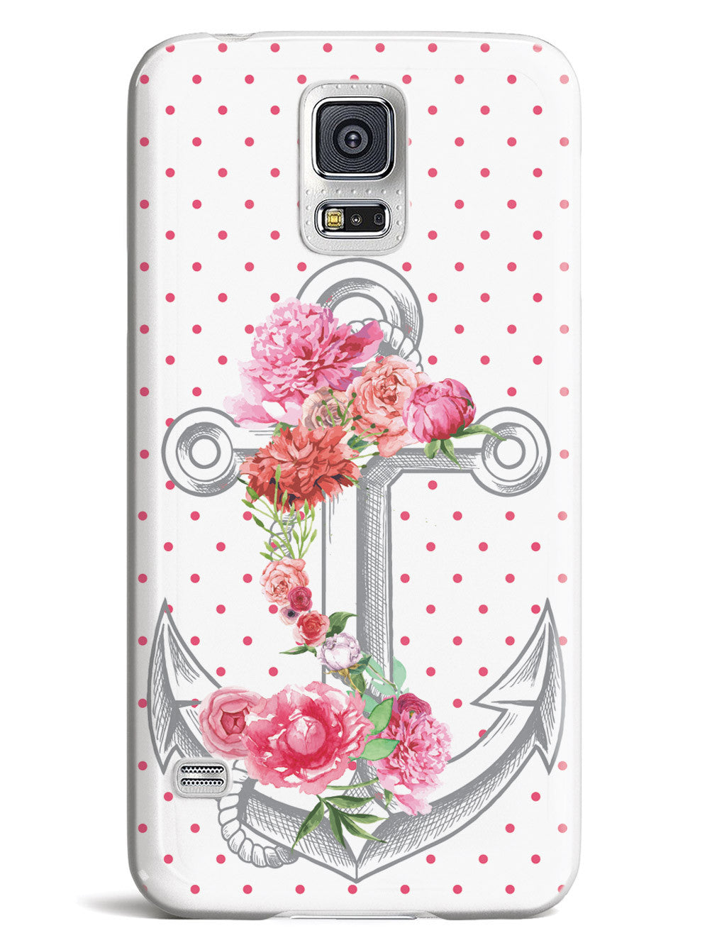 Pink Flower Anchor Case