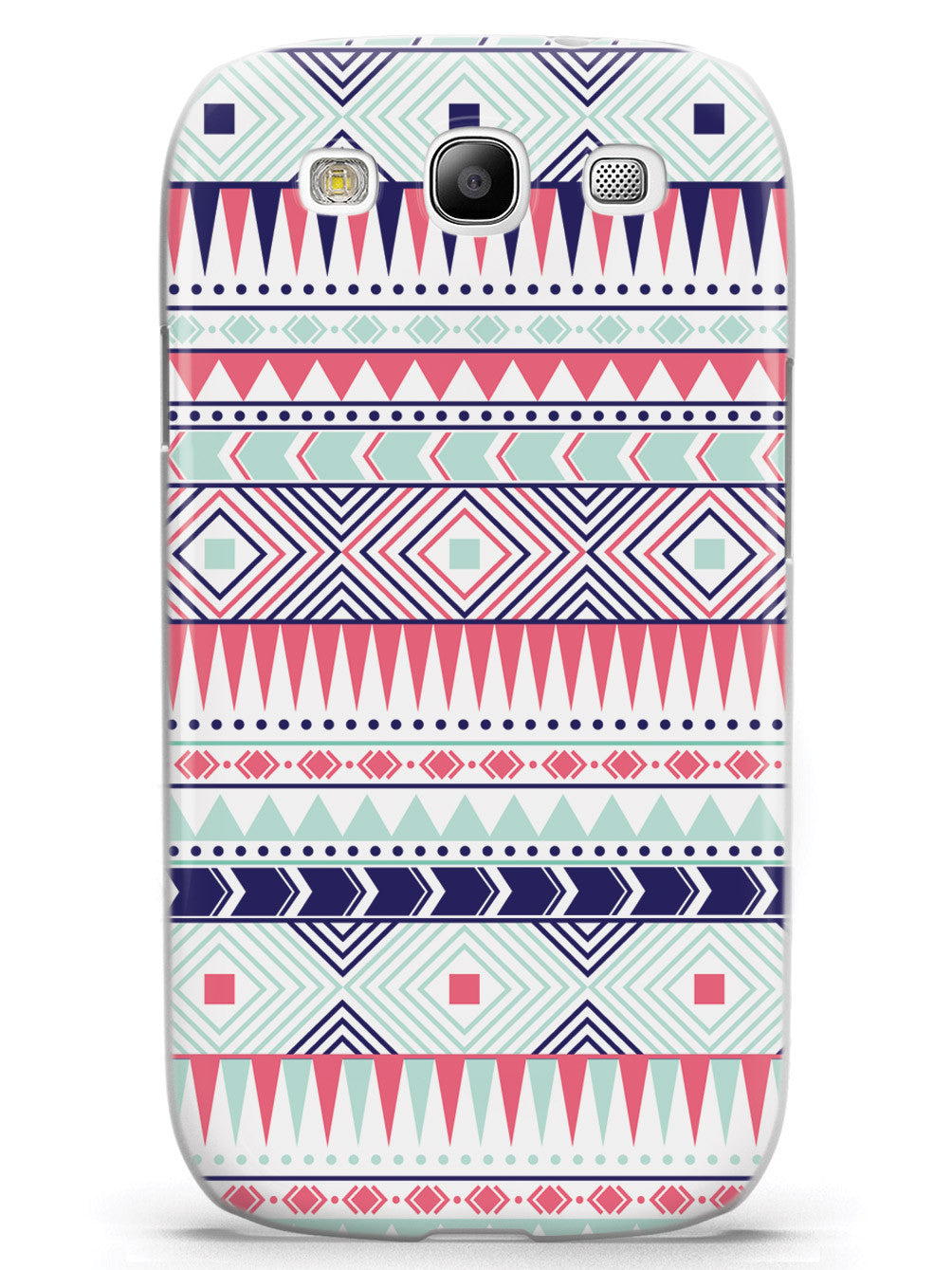 Aztec Pattern - Coral and Mint Case