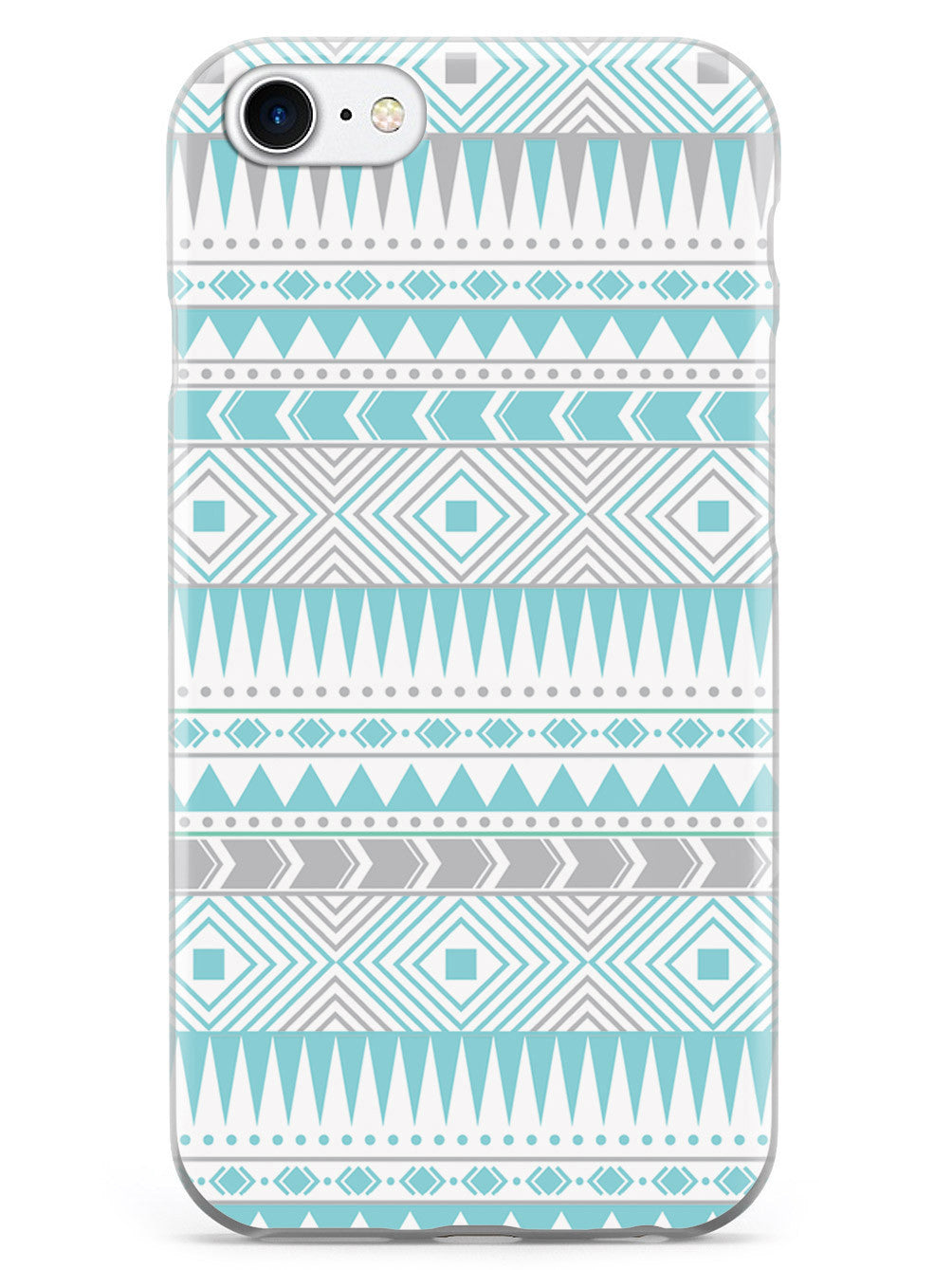 Aztec Pattern - Blue and Gray Case