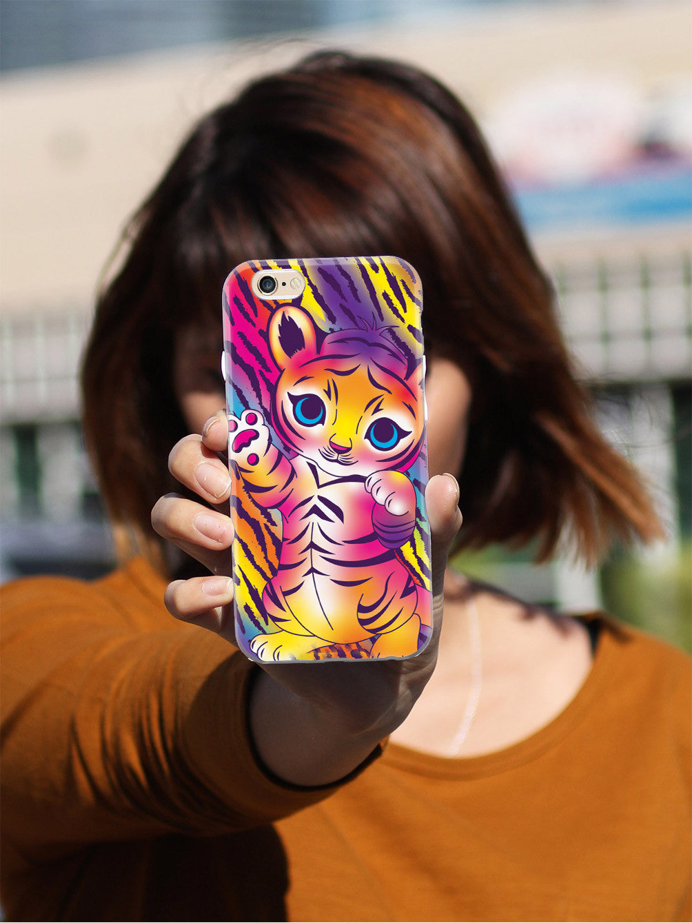 Bright and Colorful Baby Tiger Case