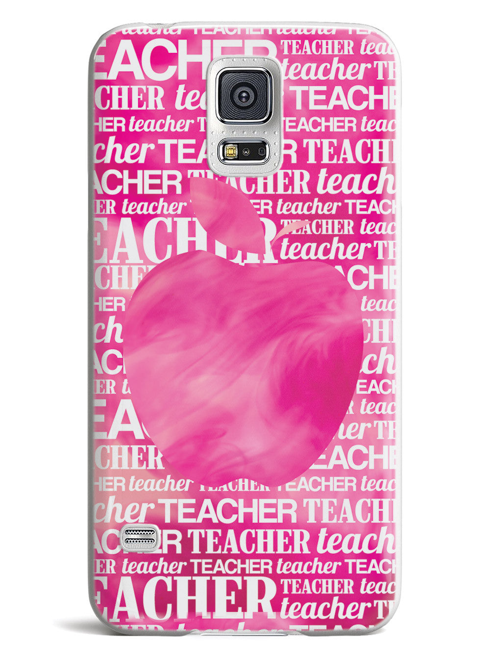 Apple Silhouette - Pink Watercolor Case