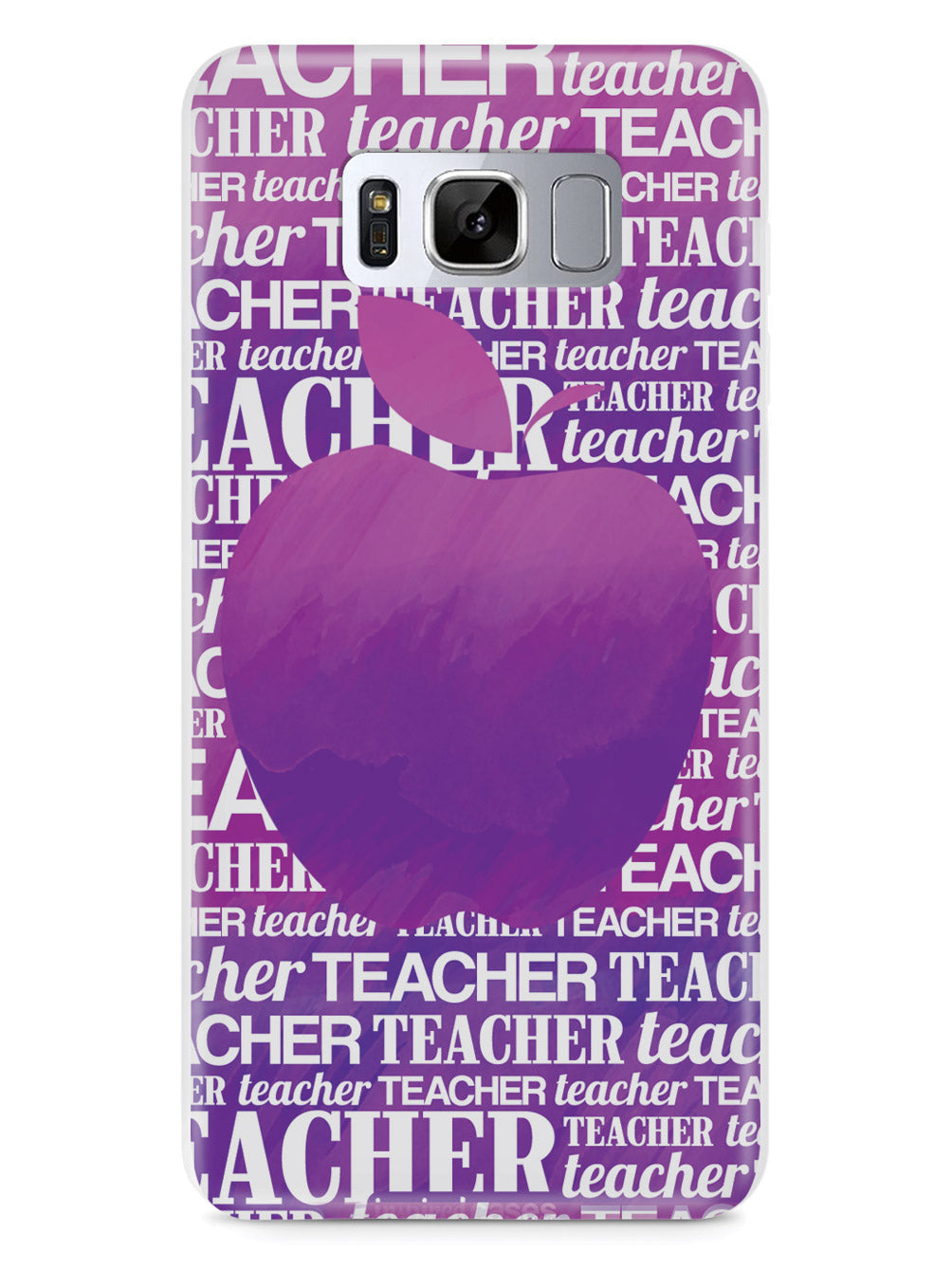 Apple Silhouette - Purple Watercolor Case