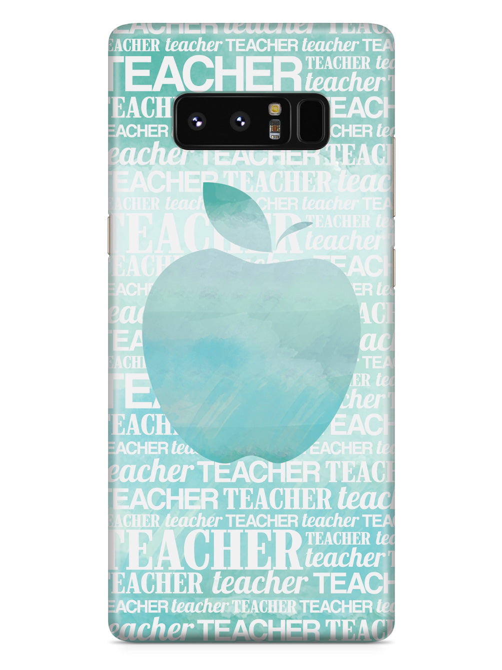 Apple Silhouette - Teal Watercolor Case