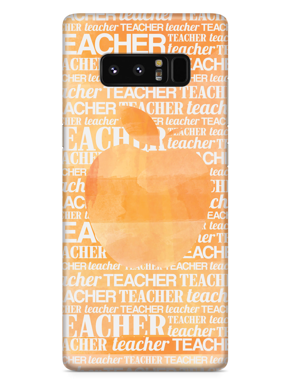 Apple Silhouette - Orange Watercolor Case