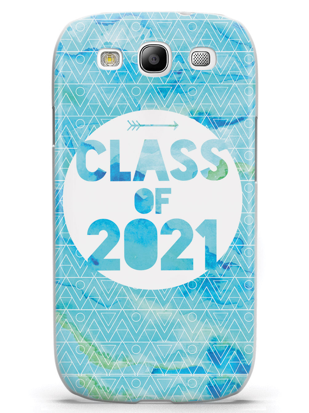 Class of 2021 - Blue Watercolor Case