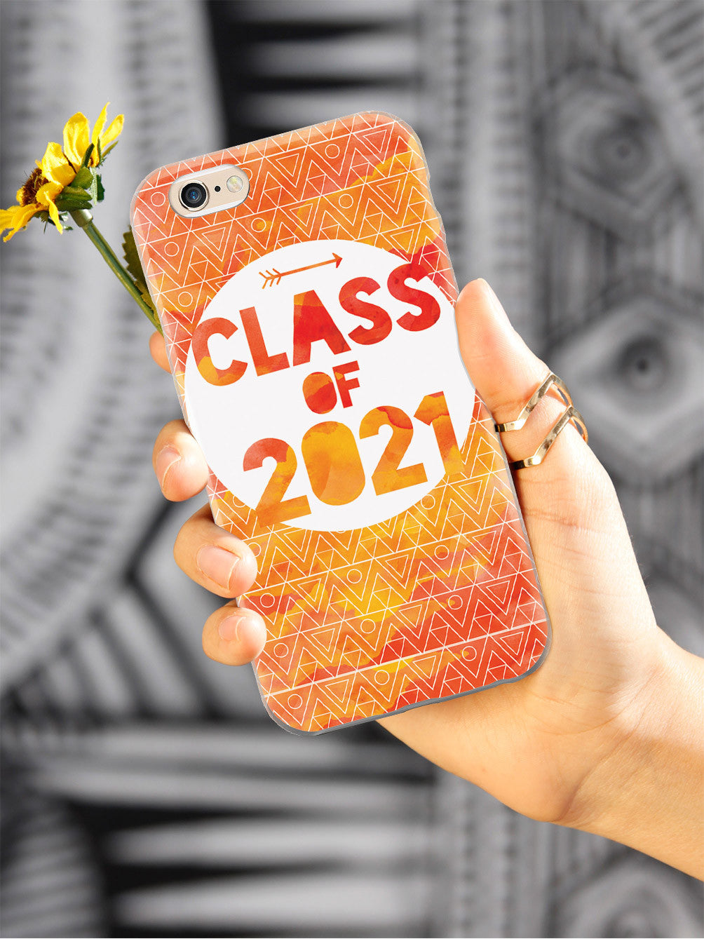 Class of 2021 - Orange Watercolor Case