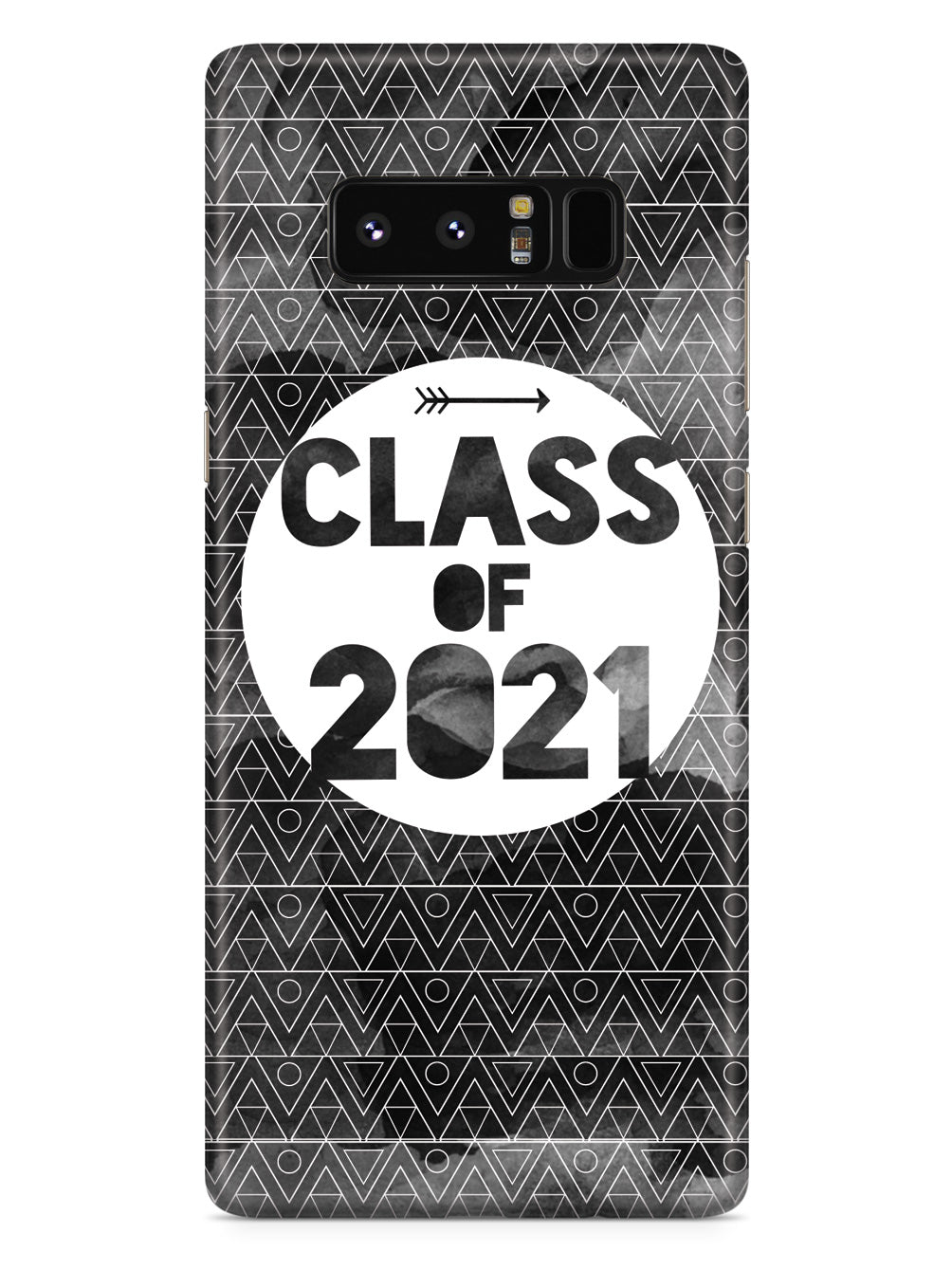 Class of 2021 - Black Watercolor Case