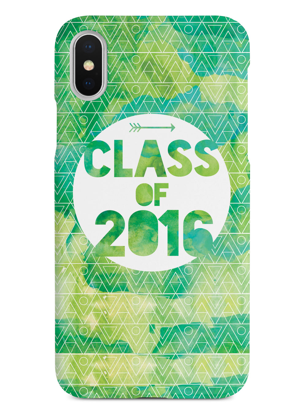 Class of 2016 - Green Watercolor Case