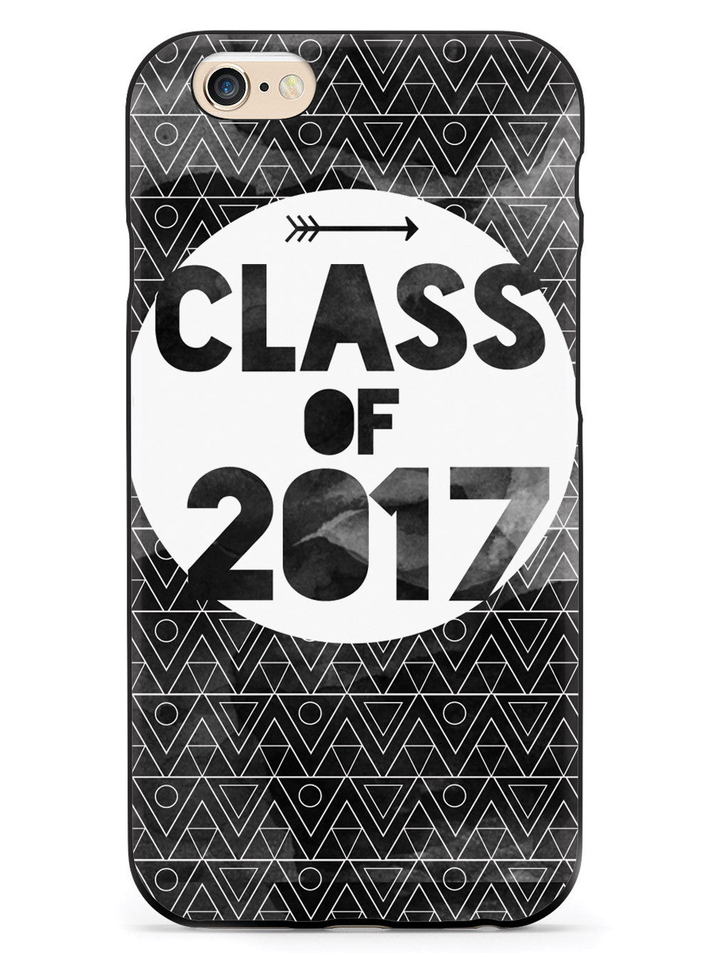 Class of 2017 - Black Watercolor Case