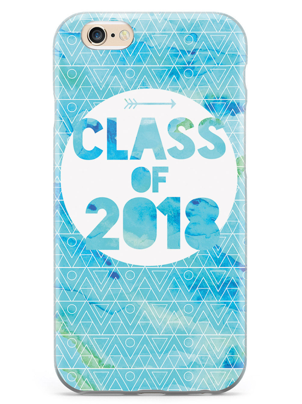 Class of 2018 - Blue Watercolor Case