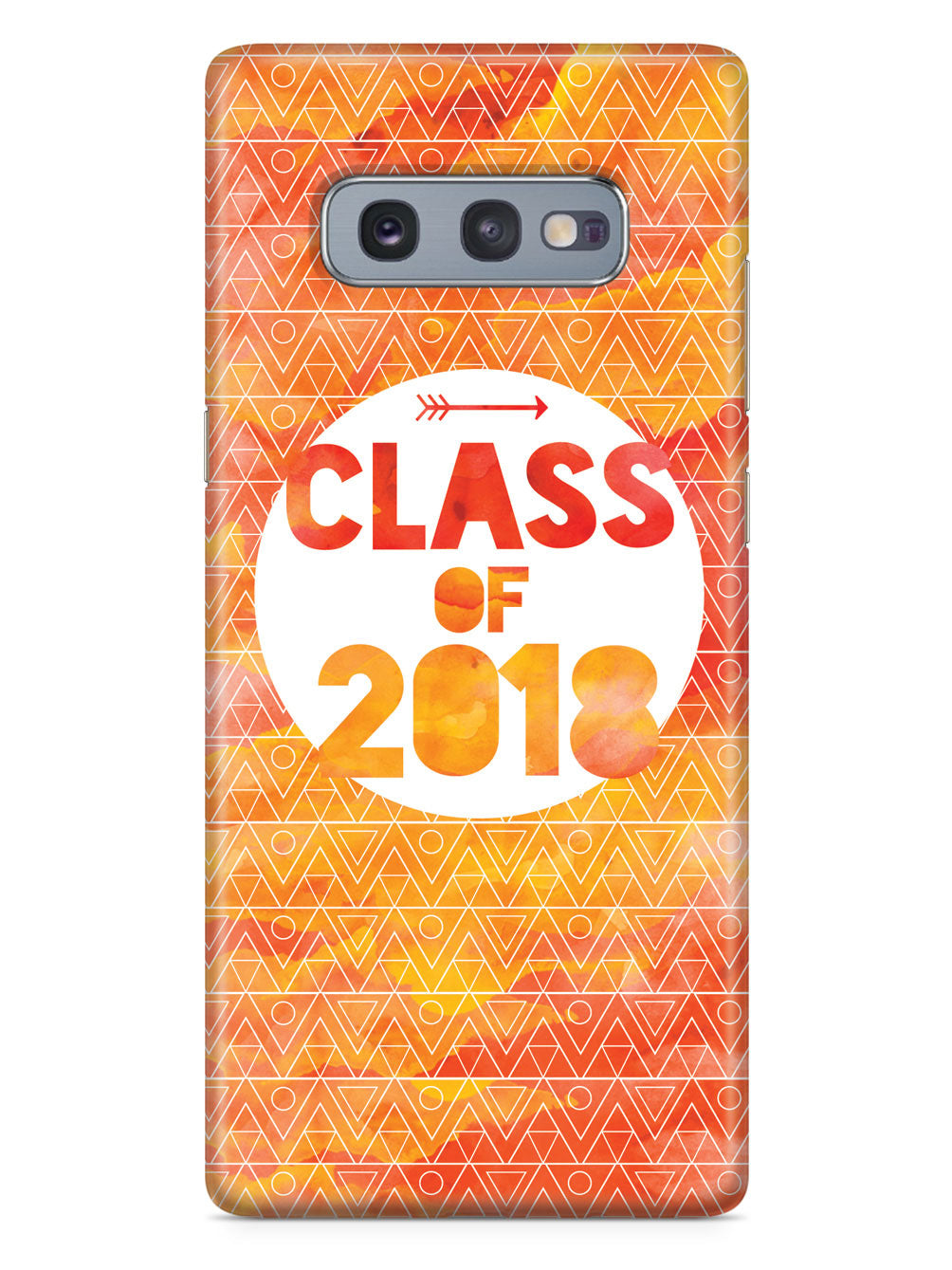 Class of 2018 - Orange Watercolor Case