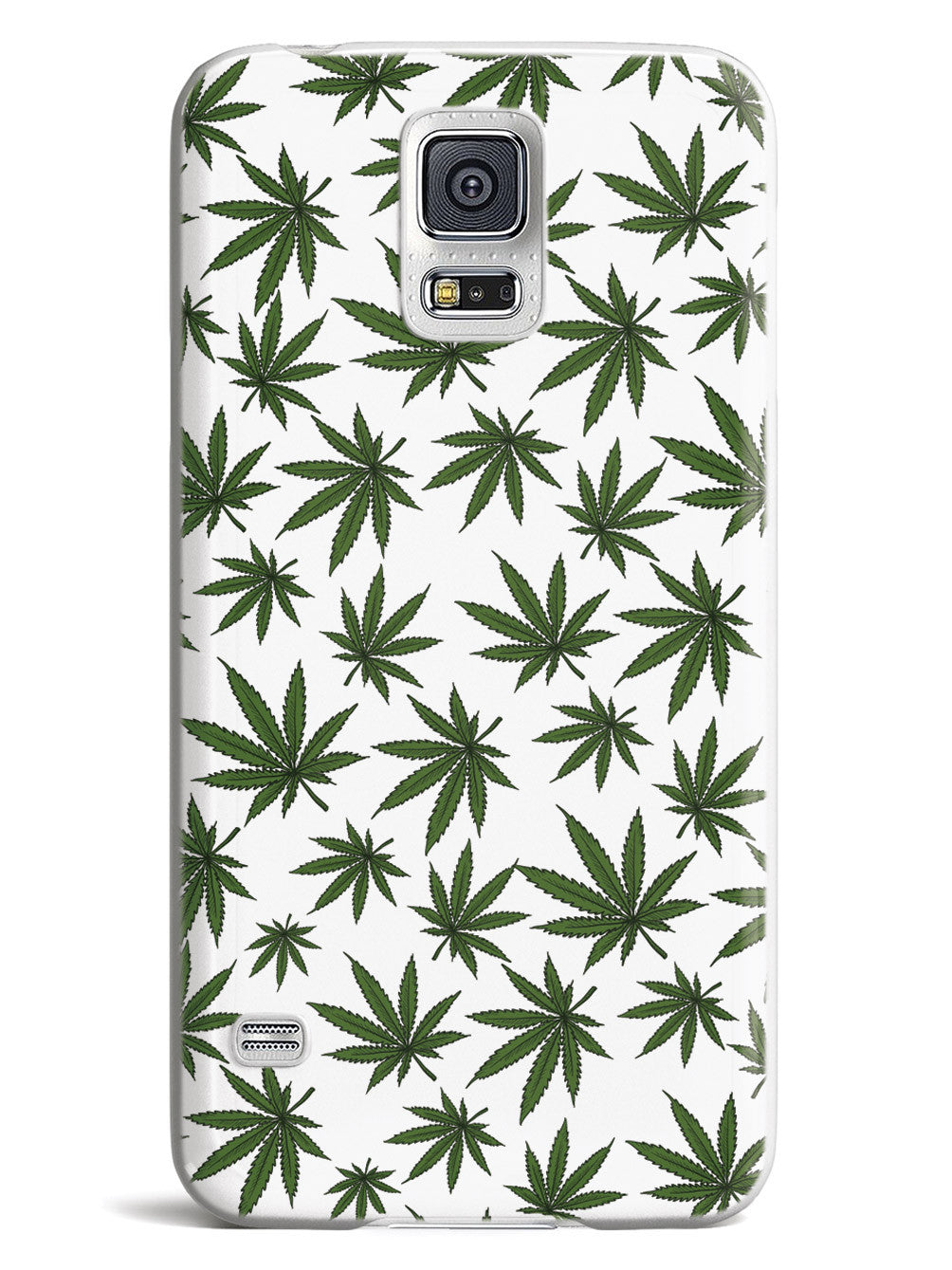Marijuana Leaf Pattern - White Case