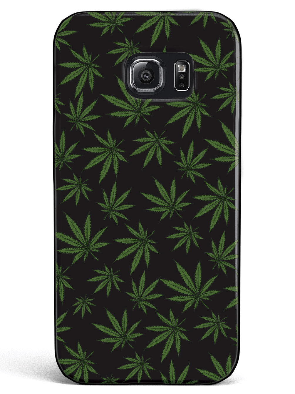 Marijuana Leaf Pattern - Black Case