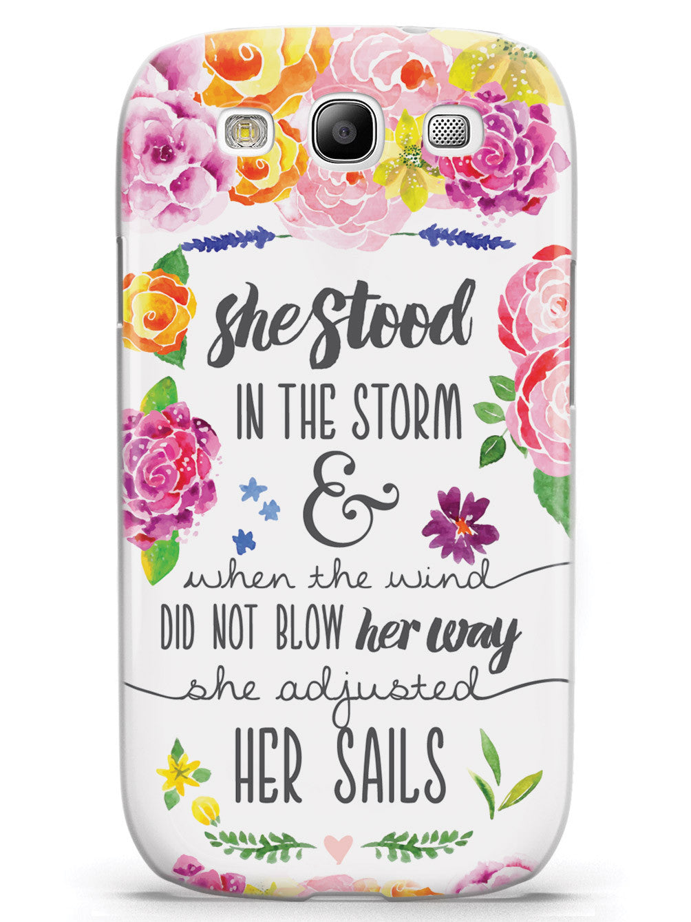 She Stood In The Storm - Elizabeth Edwards Quote Case