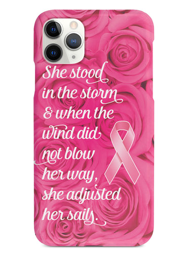 She Stood In The Storm - Breast Cancer Awareness Case
